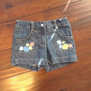 Gymboree girls Denim seashore Shorts sz 5